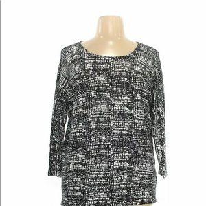 Dalia Collection Women's Tunic size L black Career